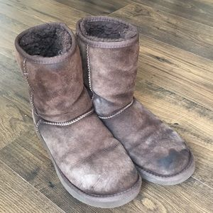 Mid Calf Short Brown Ugg Boots